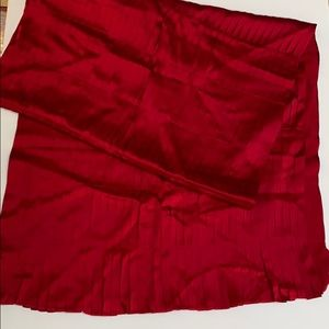Tanner wrap dramatic red pure silk pleated scarf